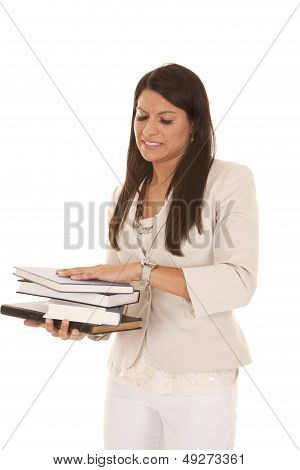 Woman Business Stack Books Stress