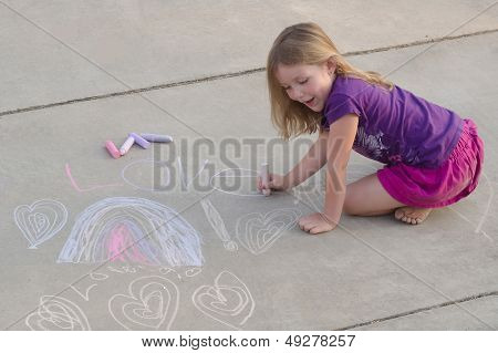 Young Chalk Artist