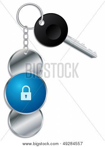 Padlock Design Keyholder With Key
