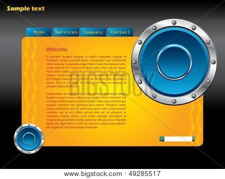 Web Template With Speakers