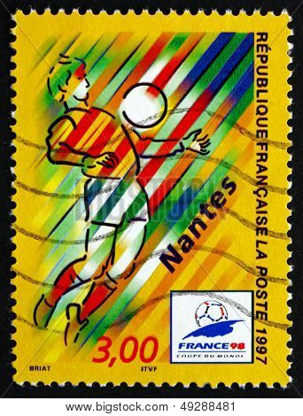 Postage Stamp France 1997 1998 World Cup Soccer Championships