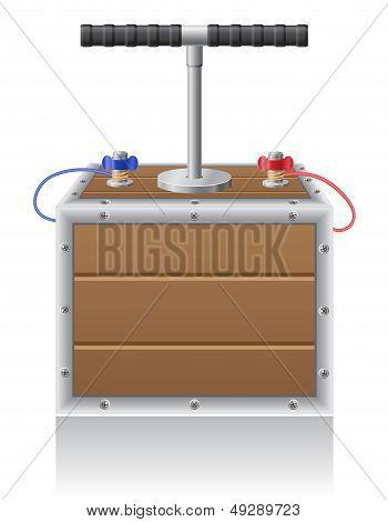 Detonating Fuse Vector Illustration