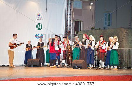 POREC, CROATIA-JULY 3: Mediterranean folklore  Zlatna Sopela on July 3. 2013 in Porec, Croatia. Zlatna sopela is under patronage of Croatian UNESCO committee.