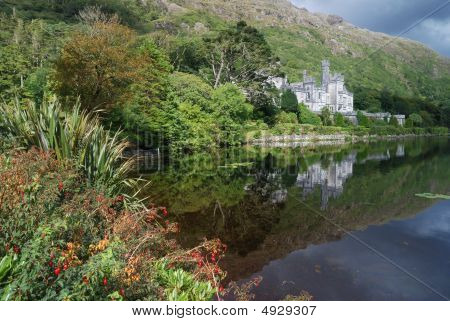 Kylemore Abbey In Green Nature