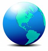 picture of suriname  - Vector Map Icon of the World Globe - JPG