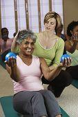 stock photo of senior class  - Senior women in exercise class - JPG