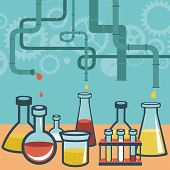 stock photo of microbiology  - Vector concept  - JPG