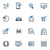 stock photo of generator  - This set contains 16 SEO and Internet Marketing icons that can be used for designing and developing websites - JPG