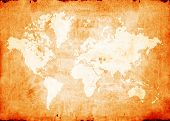 foto of atlas  - Vintage map of world 2D digital art - JPG