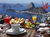 stock photo of ipanema  - Breakfast Rio de Janeiro - JPG