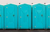 foto of porta-potties  - Porta Pottie Line Up  - JPG