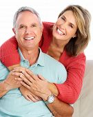 stock photo of grandpa  - Senior couple portrait - JPG