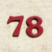 Постер, плакат: Number 78