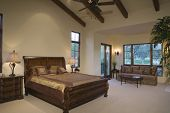 picture of hacienda  - Sleigh bed and sofa in spacious and modern bedroom at home - JPG
