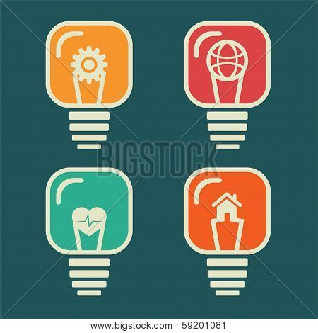 different icon in bulb