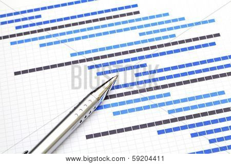 Planning chart for business project