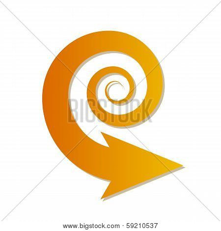 Gradient Spiral Arrow