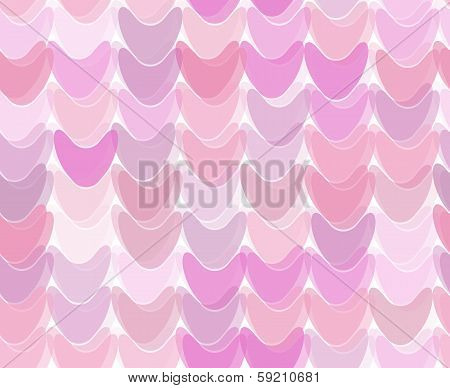 Seamless Pattern With Deformed Hearts Or Tubs