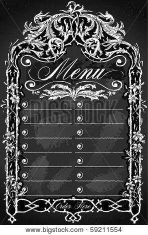Vintage Blackboard For Bar Or Restaurant Menu