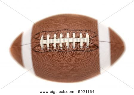 american Football with radial blur on white background