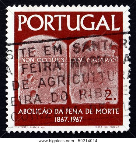 Postage Stamp Portugal 1967 Tables Of The Law