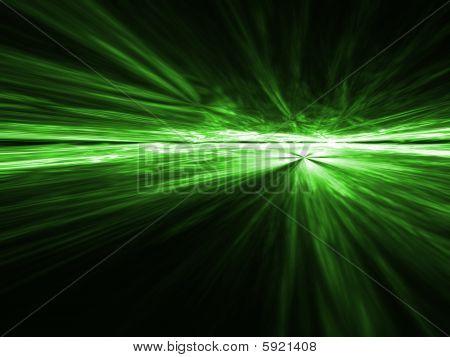 Gamma Green aerial explosion - fractal design
