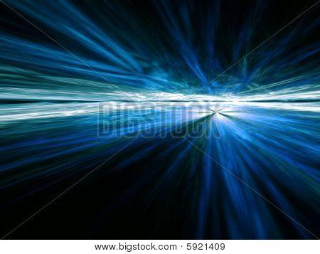 Blauwe Vista - fractal illustratie