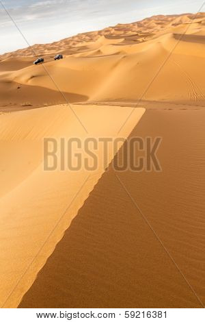Erg Chebbi sand desert in Morocco, North Africa