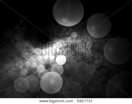 B&W NanoBubbles - Fractal Illustration