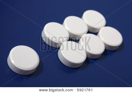 Exclamation Mark Of White Tablets