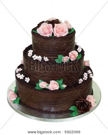 Three Tiered Chocolate Cake