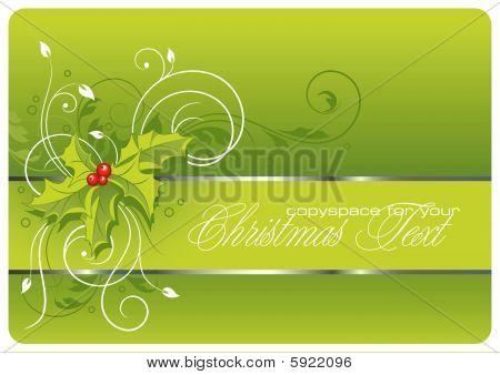 Weihnachten Hintergrund mit hollies