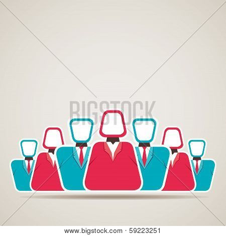 leadership concept with team and leader stock vector
