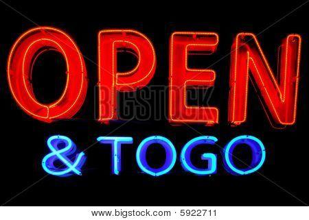 Open To Go Neon Sign