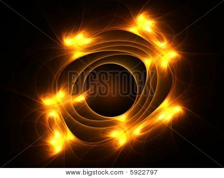 Fiery Cosmic Design