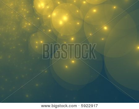 GoldGreen Star Orb Clouds