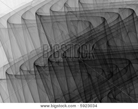 Black to White Monochrome 3D Ripples