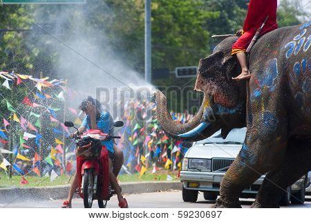 Songkran Festival In Ayudhya