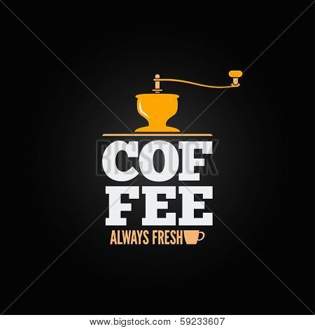 coffee mill grinder cup menu design background