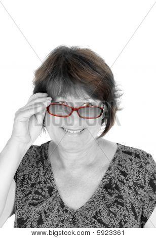 Attractive Woman In Glasses