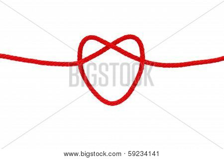 Heart Shape From Red Rope