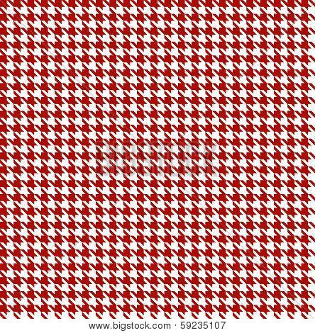 Red-white Houndstooth Background -seamless