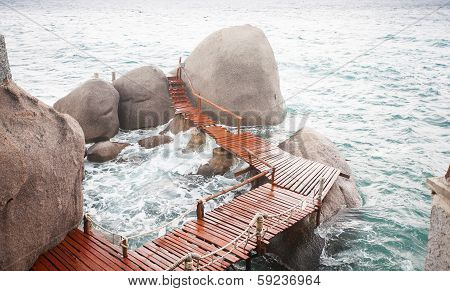 The Way Between Rocks Stones In The Sea