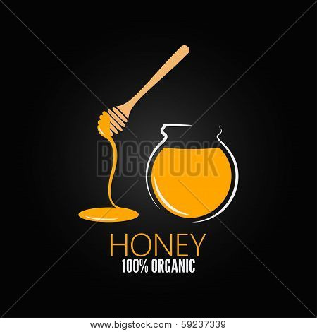 honey jar pot glass design background