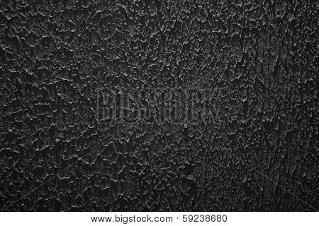 Grunge Texture, Rough Ragged Dark Background, Black Plaster Stucco Wall