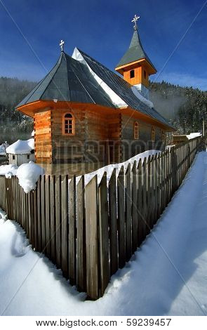 Traditional wooden church in Maramures, Romania