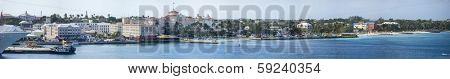 180 degree panorama of nassau, bahamas waterfront