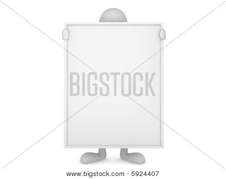 Man holding huge board