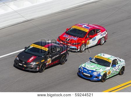 Daytona Beach, FL - Jan 24, 2014:  The Continental Tire SportsCar Challenge teams take to the track for the BMW Performance 200 at Daytona International Speedway in Daytona Beach, FL.