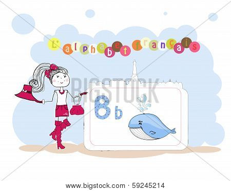 Alphabet Francais. French Alphabet, Vector B
